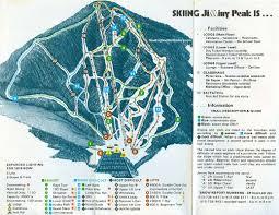 New England Area Map by 1976 77 Jiminy Peak Trail Map New England Ski Map Database
