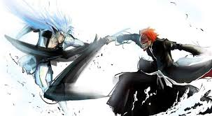 bleach kurosaki ichigo grimmjow jaegerjaquez fighting sketches