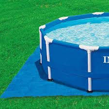 Intex 12x30 Pool Amazon Com Intex Pool Ground Cloth For 8ft To 15ft Round Above