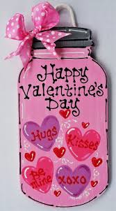 holidays diy valentines day happy s day jar sign wall door hanger hanging