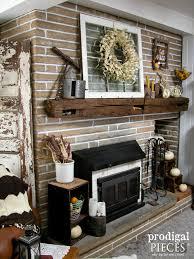 corn husk pumpkins u0026 wreath fireplace makeover prodigal pieces