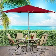 Market Patio Umbrella 9ft Market Patio Umbrella W Crank Tilt Best Choice Products