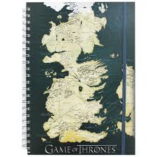 Interactive Westeros Map A4 Game Of Thrones Map Notebook Notebooks At The Works