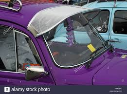volkswagen beetle purple a vw beetle fitted with a sun visor at santa pod racetrack stock