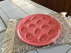 fiestaware egg plate egg plates smaller post 86 plate in front vintage larger