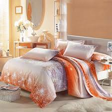 100 Cotton Queen Comforter Sets Amazing Asian Cherry Blossom 100 Cotton Bedding Sets In Grey Orange And Within Orange And Grey Comforter Jpg
