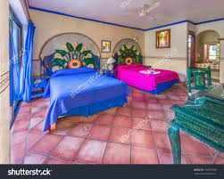 interior stock photo colorful bedroom in traditional colonial