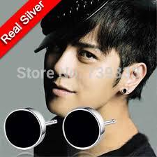 guys earing real 925 sterling silver earrings korean black earrings for men