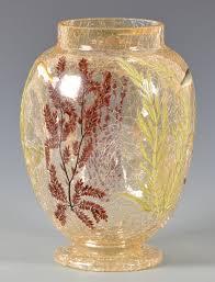Tiffany Favrile Glass Vase Lot 478 Tiffany Favrile Compote U0026 Crackled Art Glass