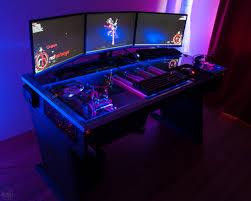 gaming pc desks red harbinger cross pc desk available to pre order bit tech net