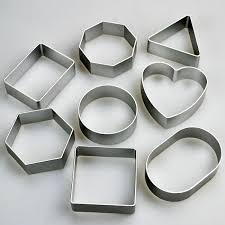 cookie cutters set of 8 basic shapes cookie cutters square heart more