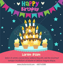 happy birthday card design template image stock vector 402743461