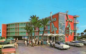 Daytona Florida Map by Sea Breeze Motel Daytona Beach Florida Post Card Daytona Beach