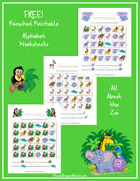 themed letters free zoo themed printable alphabet worksheets for preschool