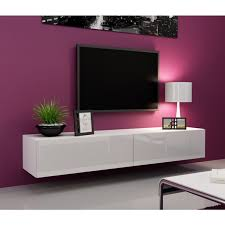 white floating tv console seattle 21