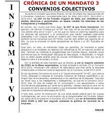 escala salarial vidrio 2016 crónica de un mandato 3 convenios colectivos cgt saint gobain