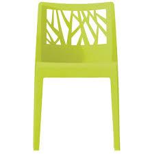 chaises grosfillex grosfillex lot 2 chaises monobloc végétal vert anis