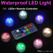 remote control battery lights 2018 rgb led aquarium diving light with remote control battery