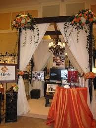 Wedding Expo Backdrop Way Too Many Colors But I Like The Curtains And Frame In The