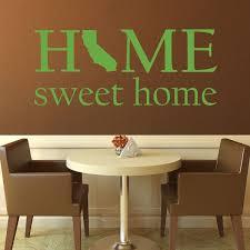 home sweet home state of california silhouette customvinyldecor com loading zoom