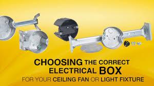 ceiling fan junction box raco 294 ceiling fan box youtube
