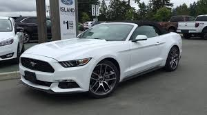 white ford mustang convertible 2017 ford mustang 2dr conv ecoboost premium island ford