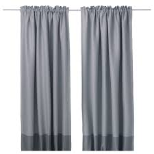 Ikea Curtains Blackout Decorating Grey Drapery Curtain With Color On Bottom Plus Chrome Rod Of