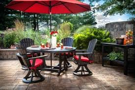 Patio Set Umbrella Patio Furniture With Umbrella And Patio Umbrellas 58 Patio