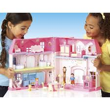 barbie house black friday amazon com you u0026 me happy family dollhouse furnished doll house