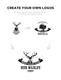 vintage vector logo design kit 15 free logo templates on behance