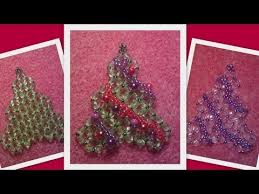 beaded christmas tree christmas ornament beading tutorial by