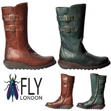 womens calf boots sale fly fly suli brick leather womens mid calf boots