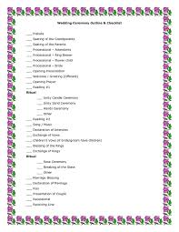 Sample Of A Wedding Program Best 25 Wedding Ceremony Outline Ideas On Pinterest Wedding