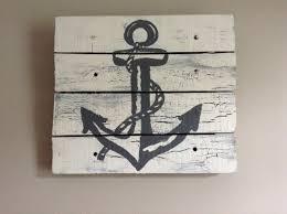 Anchor Home Decor by Anchor Artpallet Art14x14rustic Artbeach Housewhite Wood