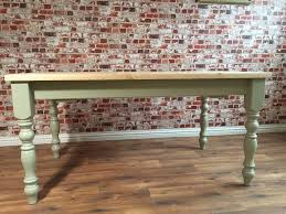 scrub top painted farmhouse pine dining table extending table