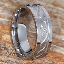 Mens Wedding Ring Metals by Jupiter Men U0027s Wedding Bands Tungsten Carved Symbol 8mm