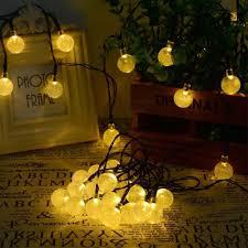 save 33 solar power globe string lights 30 led for indoor