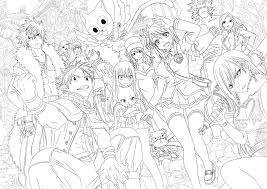 fairy tail coloring pages fairy tail anime coloring pages depetta