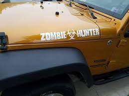 zombie hunter jeep product 2x zombie hunter edition for jeep wrangler cj tj yk jk hood