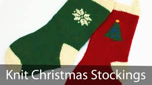 learn to knit a christmas stocking part 1 youtube
