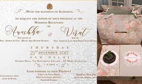 wedding reception invitation anushka sharma and virat kohli s reception invite is as beautiful