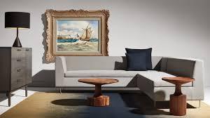 bonnie u0026 clyde sectional a sleek single cushion sofa is paired