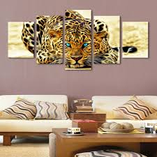 5 plane abstract leopards modern home decor wall art canvas animal 5 plane abstract leopards modern home decor wall art canvas animal picture print painting set of 5 each canvas arts unframed