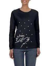 Halloween Shirts For Ladies Show Your Wild Side Wearing Moose Lick Long Sleeve Ladies T Shirt