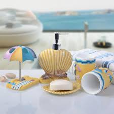 shell bathroom accessories set 5pcs bathroom accessories set