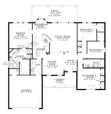 one level open floor plans projects design single level house plans 6 one with open floor plan