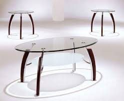 glass coffee table set of 3 amazon com 3 pc table set kitchen dining