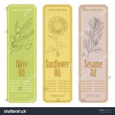 vintage olive sunflower sesame labels stock vector 361540505