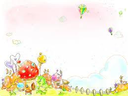 children u0027s wallpaper house fence heart grass bush stool clouds