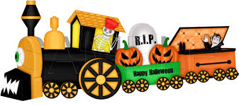 halloween graphic art halloween train clip art single graphic scrapbooking